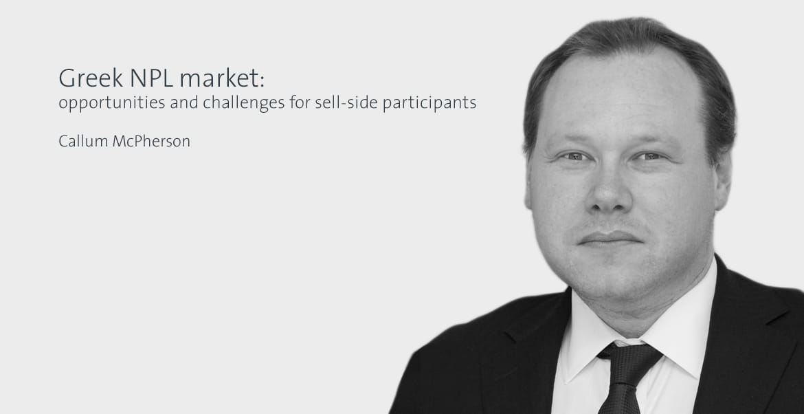 Greek NPL market: opportunities and challenges for sell-side participants